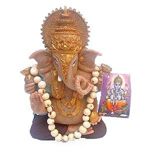 Ganesha Marrom com japamala