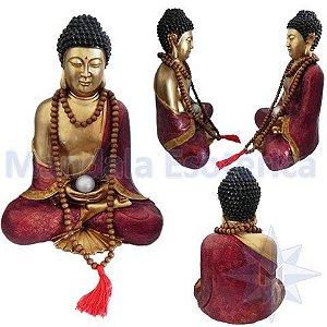 Buda colorido Grande com Japamala