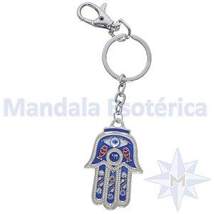 Chaveiro Mão Hamsa Azul