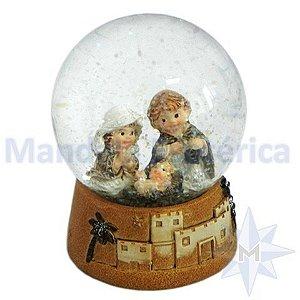 Globo de Vidro Presépio Nascimento de Jesus Sagrada Família