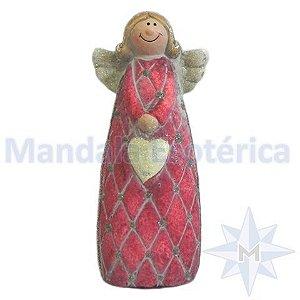 Anjo de Natal Pequeno com Coração