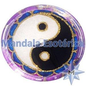 Incensário redondo Yin Yang