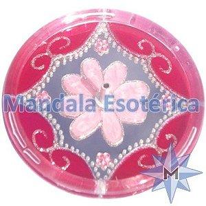 Incensário redondo rosa