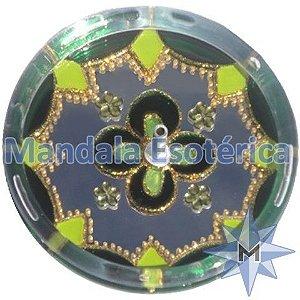 Incensário redondo verde