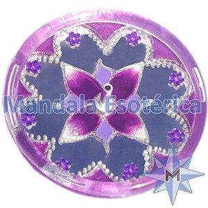 Incensário redondo lilas