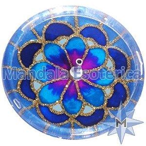 Incensário redondo flor azul