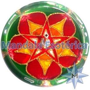 Incensário redondo pentagrama