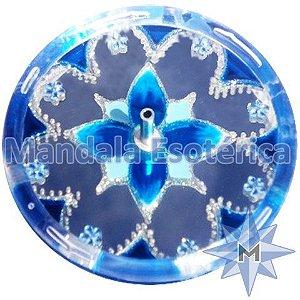 Incensário redondo azul