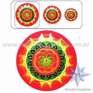 Mandala Rosácea Laranja Grande