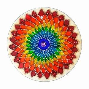 Mandala Flor Laranja Iris - Grande