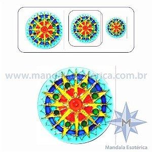 Mandala Sol Azul Média