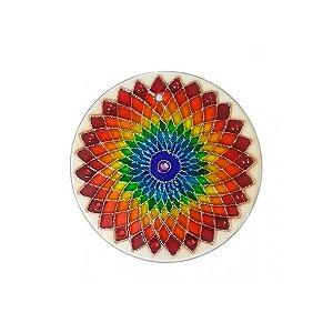 Mandala Flor Laranja - Pequena