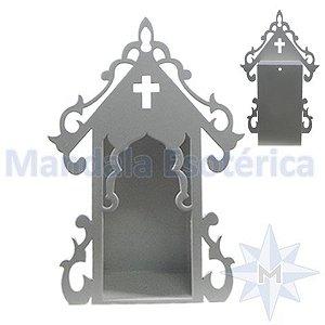 Oratório Fechado Médio Branco Luxo - JP-1438