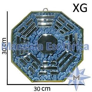 Bá-Gua Espelhado Azul Claro - 30cm