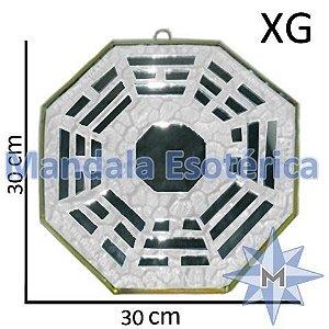 Bá-Gua Espelhado Branco - 30cm