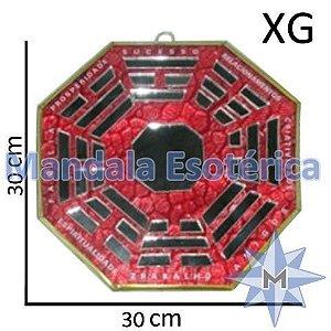 Bá-Gua Espelhado Vermelho - 30cm