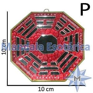 Bá-Gua Espelhado Vermelho - 10 cm