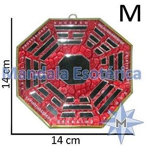 Bá-Gua Espelhado Vermelho - 14 cm