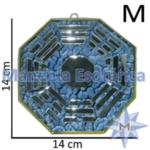 Bá-Gua Espelhado Azul Claro - 14 cm