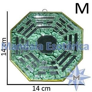 Bá-Gua Espelhado Verde - 14 cm