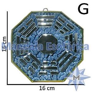 Bá-Gua Espelhado Azul Claro - 16cm