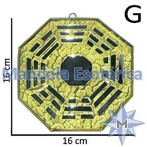 Bá-Gua Espelhado Amarelo - 16 cm
