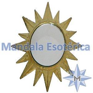 Espelho Sol dourado G