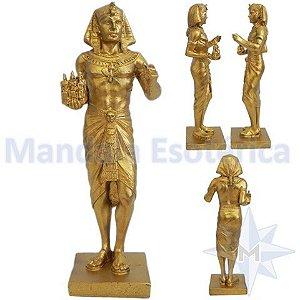 Faraó Rei do Egito Dourado Tributo a Trindade Real