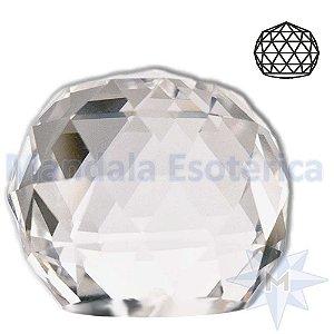 Peso para Papel de Cristal Bola Facetada Base Reta D05