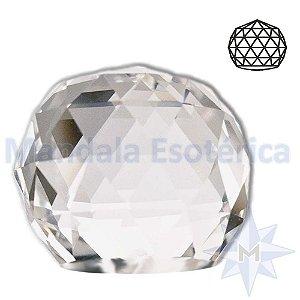 Peso para Papel de Cristal Bola Facetada D04