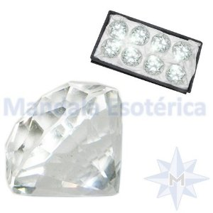 Kit com 8 Diamantes Incolor P