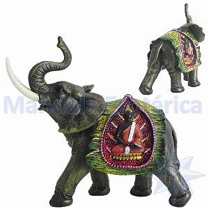 Elefante com Manto Verde de Buda A
