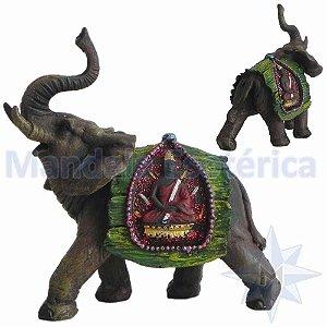 Elefante com Manto Verde de Buda B