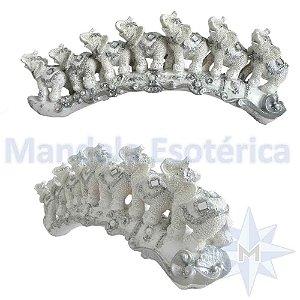 7 Elefantes Brancos em Fila Indiana
