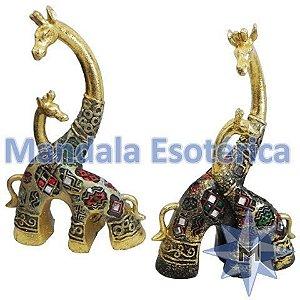 Girafas em resina conjunto com 2