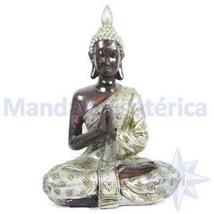 Buda Namaskara Mudra do Respeito estatua de Resina