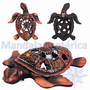 Tartaruga de Parede Colorida Bronze C