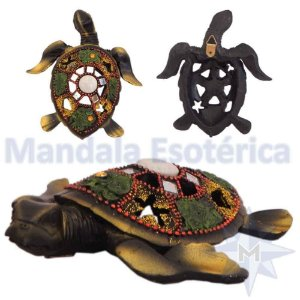 Tartaruga de Parede Colorida Verde B