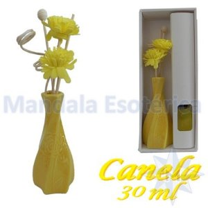 Aromatizador com flor e varetas com perfume de Canela