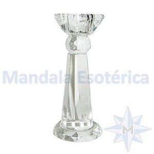 Pedestal de Vidro facetado Médio
