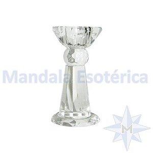 Pedestal de Vidro facetado Pequeno