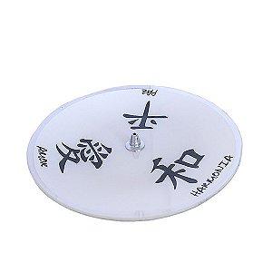 Incensário Prato Kanji Branco