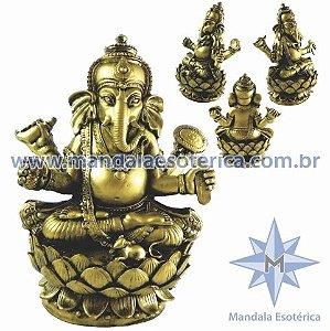 Ganesh na flor de lótus fortuna