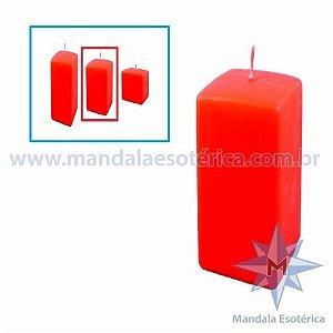 Vela Decorativa de Natal Vermelha Média