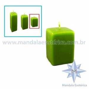 Vela Decorativa de Natal Verde Pequena