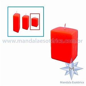 Vela Decorativa de Natal Vermelha Pequena