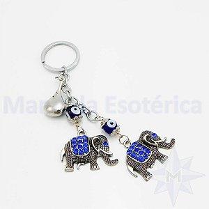 Chaveiro 2 Elefantes Gota