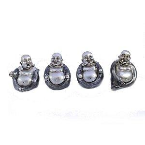 Budas em Resina caixa com 4 modelos