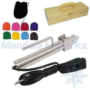 Bastão Cromático com estojo de madeira e 8 filtros de cores Além das Formas - 110V