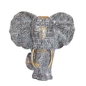 Busto Elefante Cinza - Grande